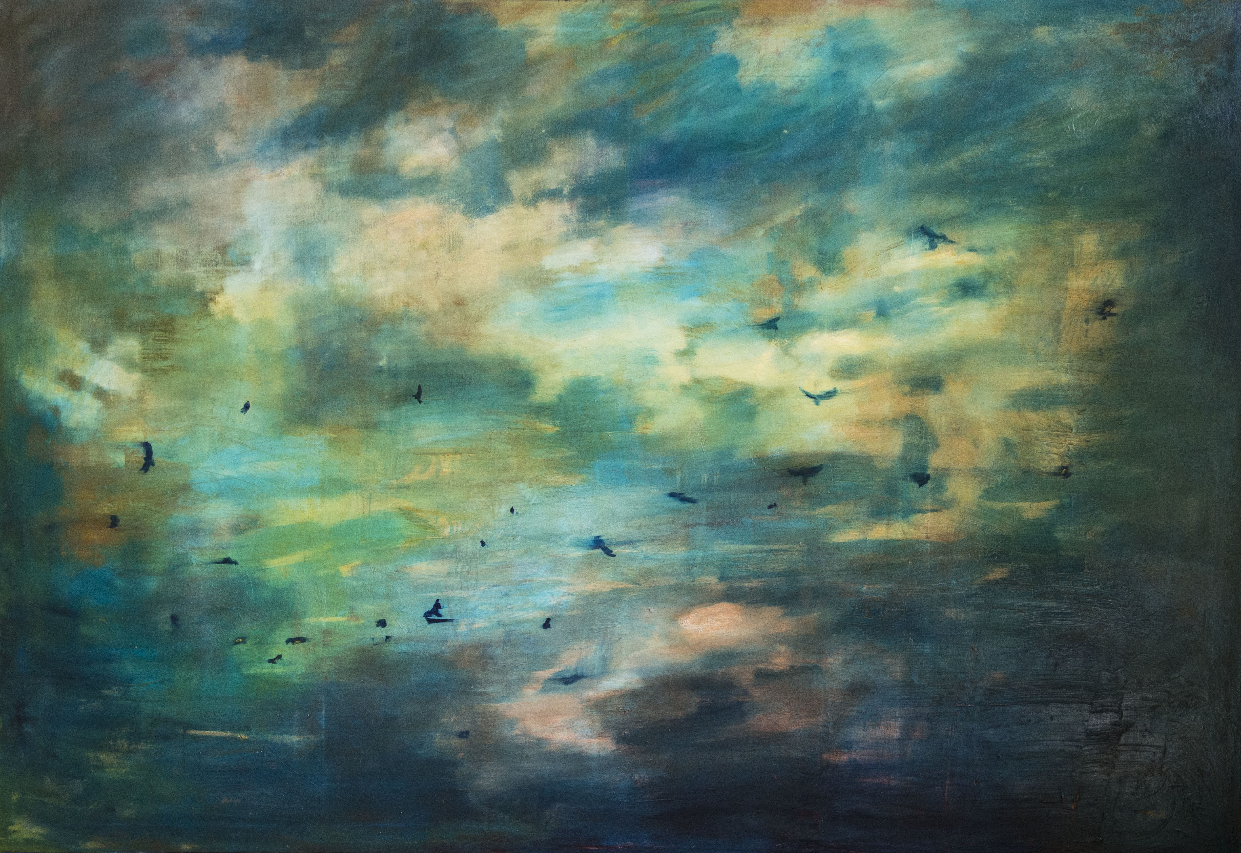 L'Envol_180x260cm_huile sur toile_2016_©Gaëlle Hamalian-Testud